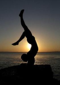Scorpian yoga pose
