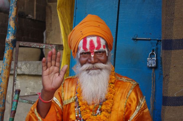 Picture of Holy Man in Varanasi India