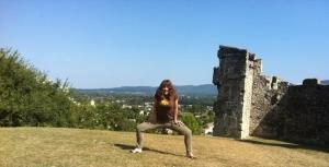 Charlotte Speller Horse stance yoga pose