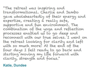 Forrest Yoga retreats with Jambo & Charlie are amazing. Testimonial for 2012 Forrest Yoga retreat.